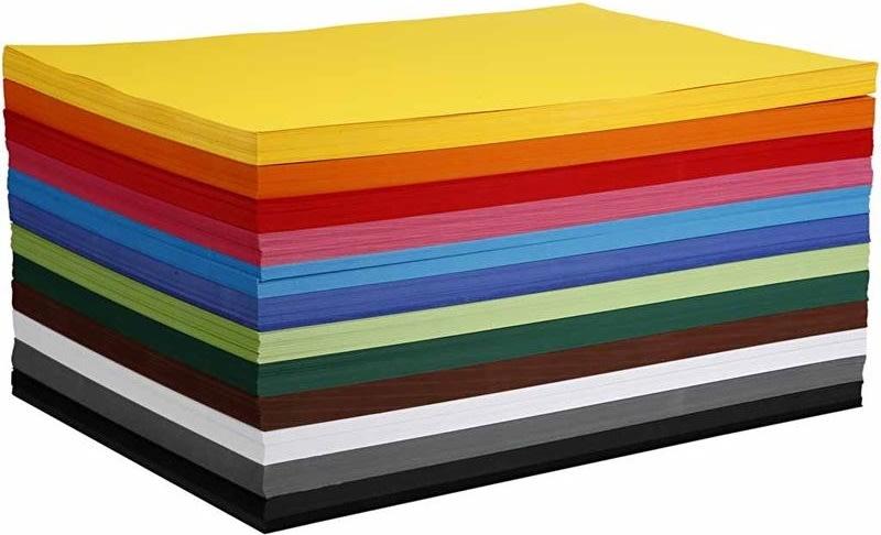 Colortime Karton, A2, 180g, 120 ark, ass. farver