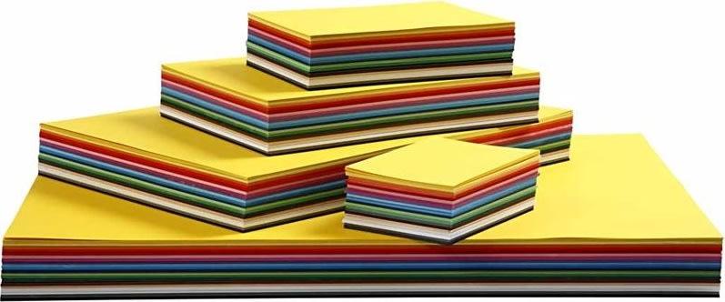Colortime Karton, A3-A6, 180g, 1500 ark, ass.