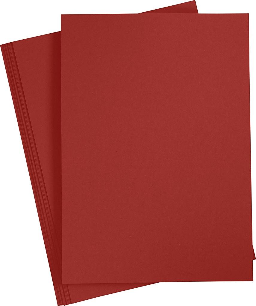 Paper Concept Karton, A4, 180g, 20 ark, bordeaux