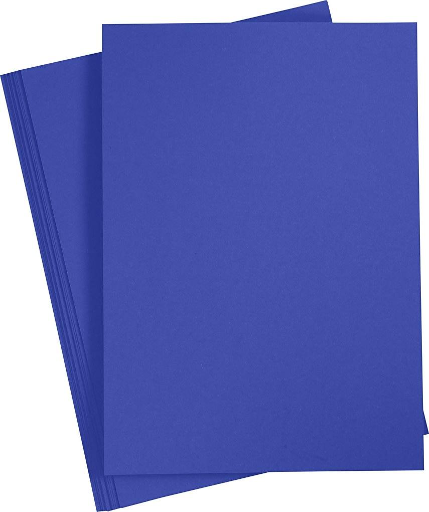 Paper Concept Karton, A4, 180g, 20 ark, kongeblå