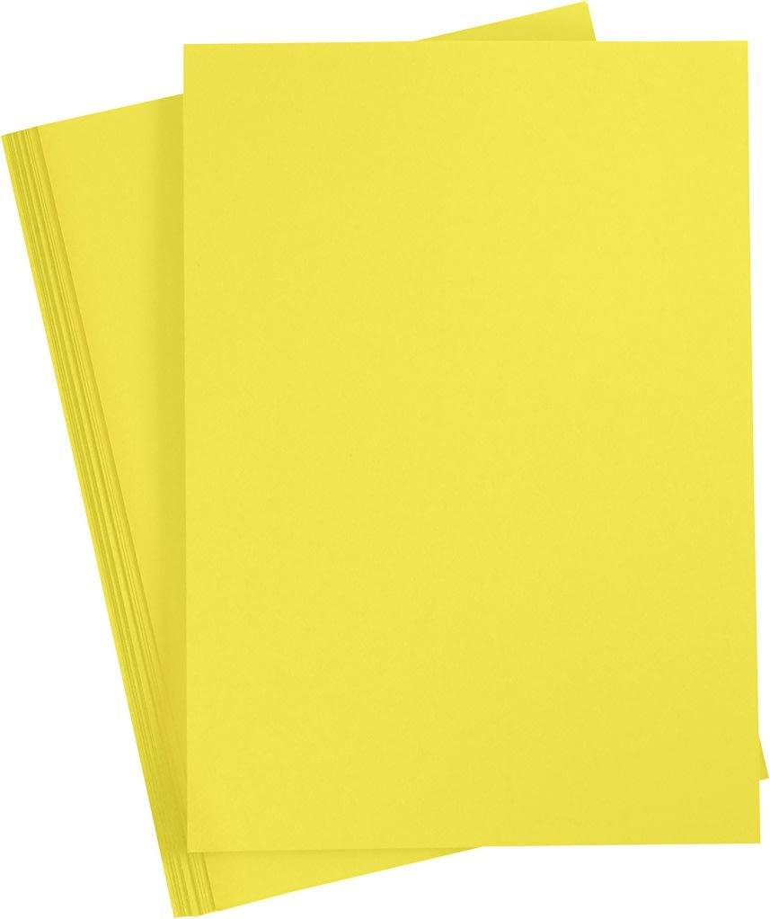 Paper Concept Karton, A4, 180g, 20 ark, solgul