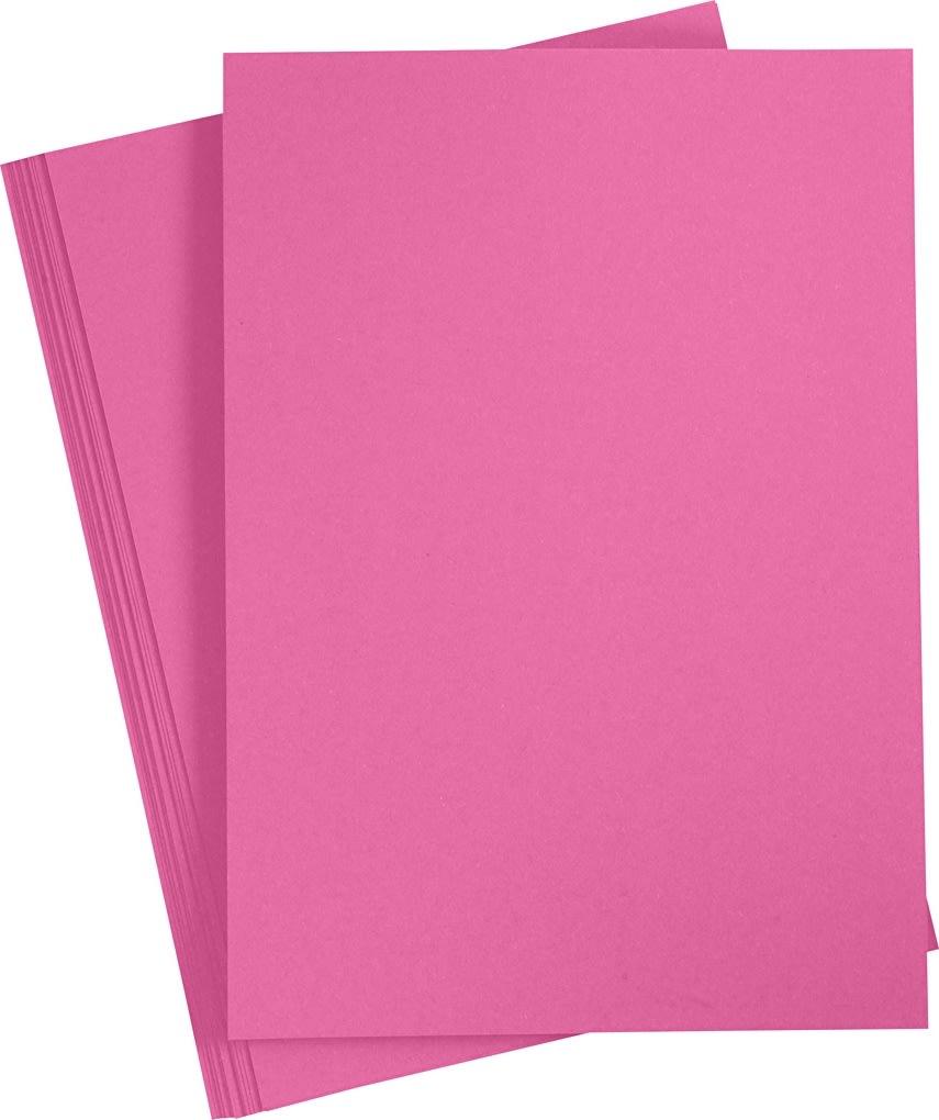 Paper Concept Karton, A4, 180g, 20 ark, pink