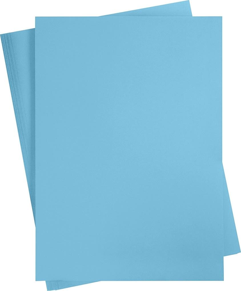 Karton, A2, 180g, 10 ark, klar blå