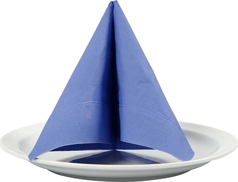 Happy Moments Frokostserviet, lyseblå, 20 stk