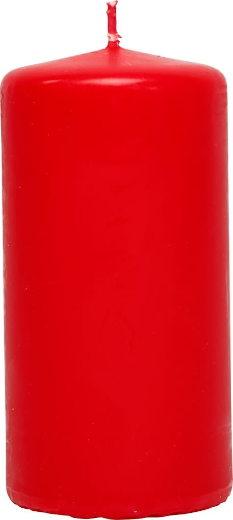 Happy Moments Bloklys, 5 x 10 cm, rød, 6 stk