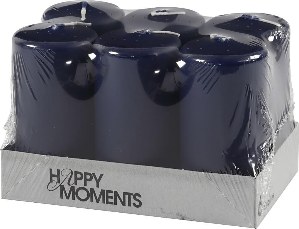 Happy Moments Bloklys, 5 x 10 cm, blå, 6 stk