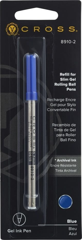 Cross rollerball refill slim, blå, medium
