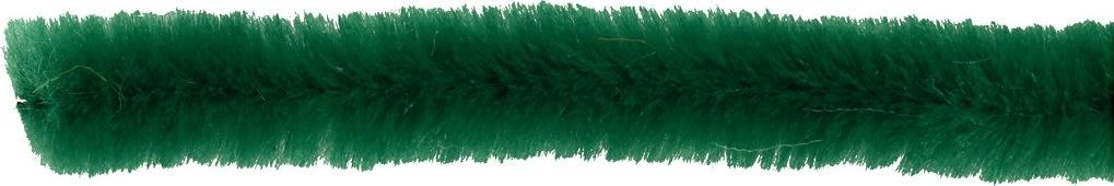 Chenille Piberensere 6 mm, grøn, 50 stk