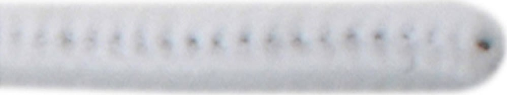 Chenille Piberensere 9 mm, hvid, 25 stk