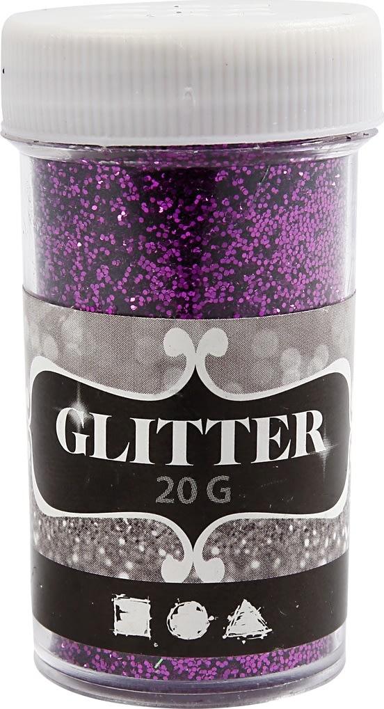 Glitterdrys, lilla, 20 g
