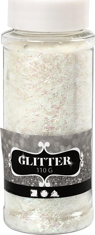 Glitterdrys, krystal, 110 g