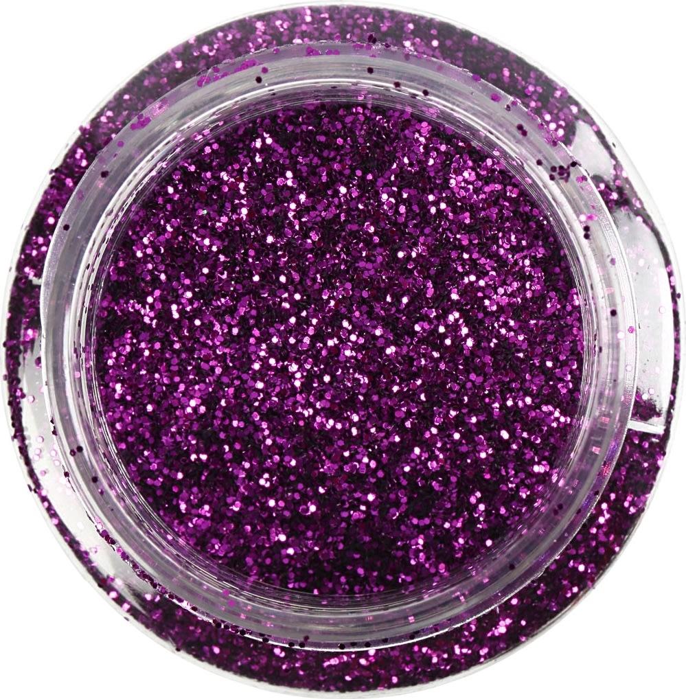 Glitterdrys, lilla, 110 g