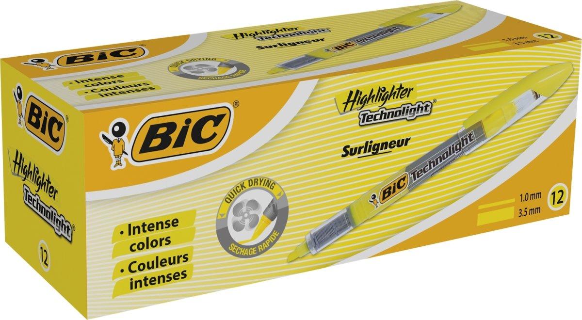 BiC Technolight Highlighter   Gul