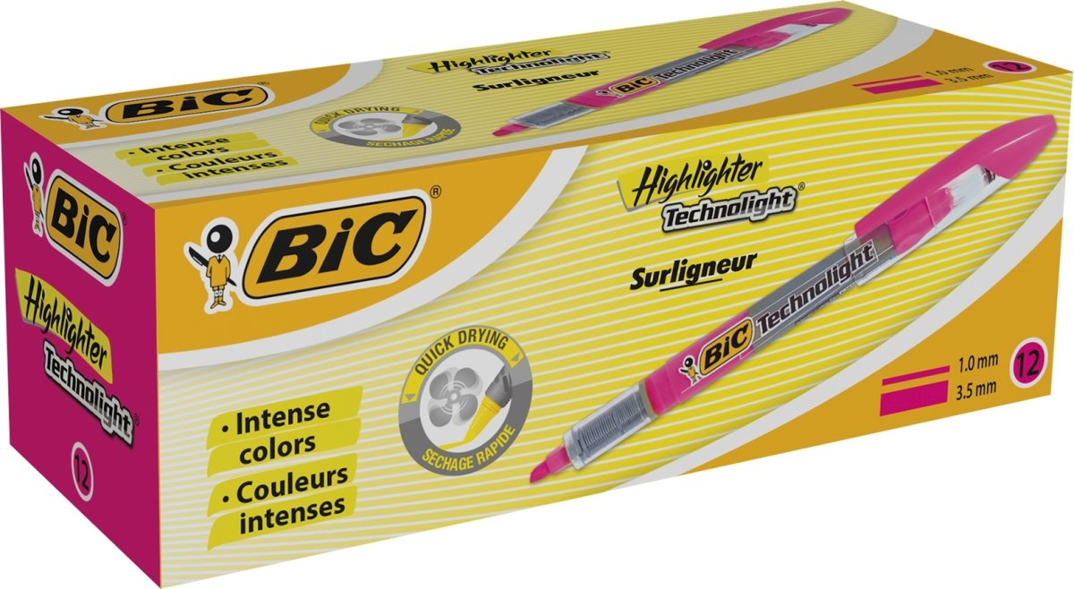 BiC Technolight Highlighter | Pink