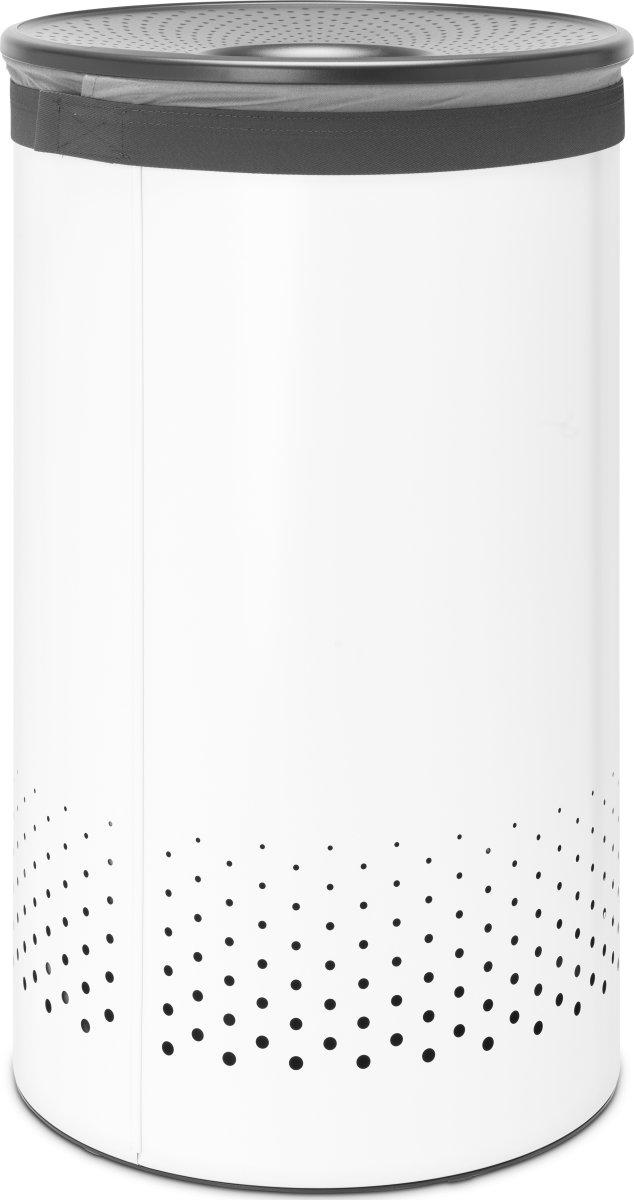 Brabantia Vasketøjskurv, 60 liter, hvid