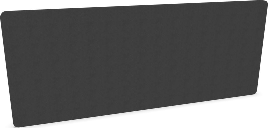 Silent Express bordskærmvæg, 160x65 cm, mørkegrå