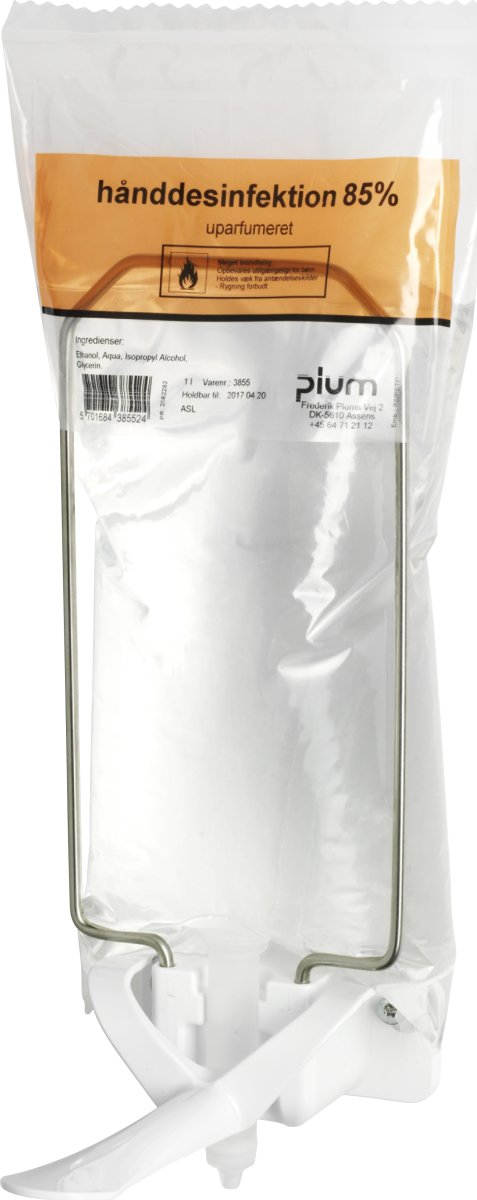 Plum Hånddesinfektion 85 % Flydende i pose, 1 L