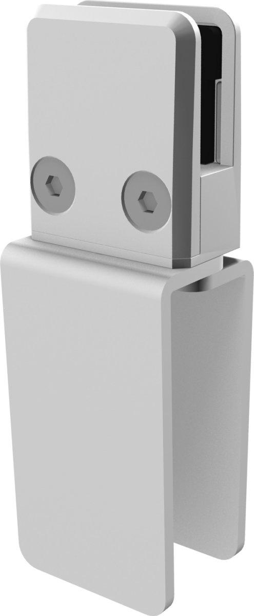 Justerbart beslag til Plexitop, 3 stk, hvid