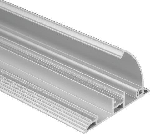 Gulvkanal med låg til ledninger, 2m, aluminium