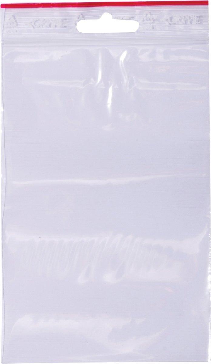 Lynlåspose uden skrivefelt 100x150mm, 1000stk