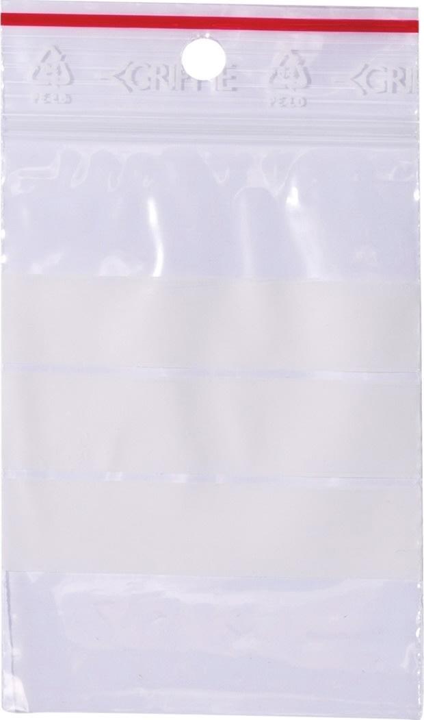 Lynlåspose med skrivefelt 60x80mm, 1000stk