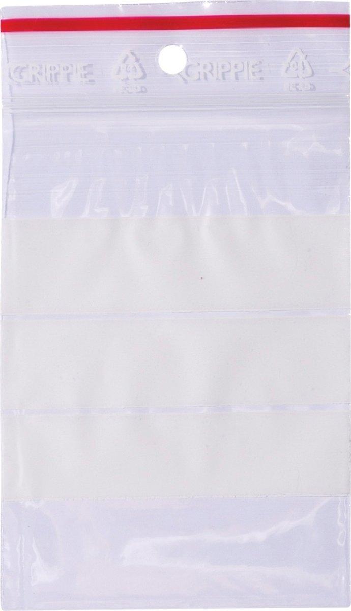 Lynlåspose med skrivefelt 70x100mm, 1000stk