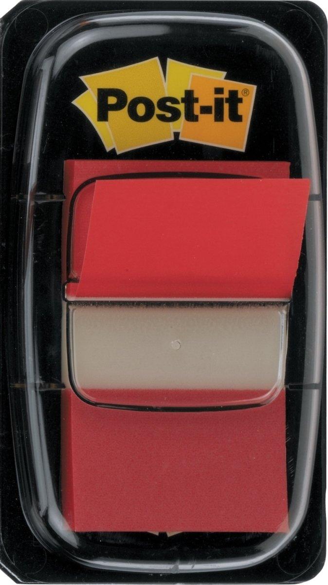 Post-it indexfane, rød 25x43 mm