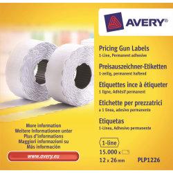 Prisetiketter til prismærkningsmaskine single hvid