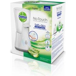 Dettol No-Touch dispenser + Aloe Vera sæbe, hvid