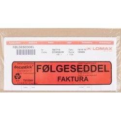 Følgeseddelslomme Følg./Fakt., C65, 1000 stk.