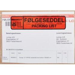 Følgeseddelslomme Følg./Pack., C6, 1000 stk.