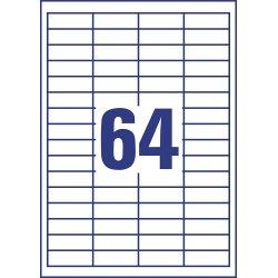 Avery 3667 Universal etiketter, 48,5 x 16,9mm