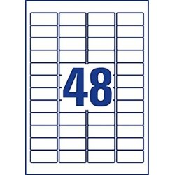 Avery L4736REV-25 aft.etiketter, 45,7 x 21,2mm