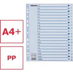 Esselte Maxi register A4, A-Å, PP, hvid