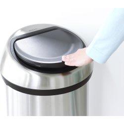 Brabantia Touch Bin 60 L, matt steel FPP lid