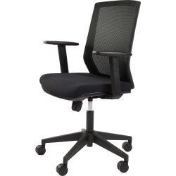 Vasto kontorstol med netryg, Sort