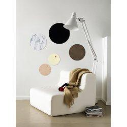 NAGA magnetisk cirkel glastavle, 45 cm, sort