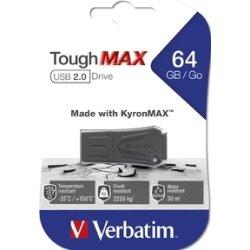 Verbatim USB 2.0 ToughMAX 64GB, sort