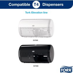 Tork T4 Advanced toiletpapir, 2-lags, 24 ruller