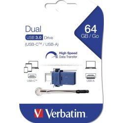 Verbatim Dual Drive USB/USB-C 64GB, sort