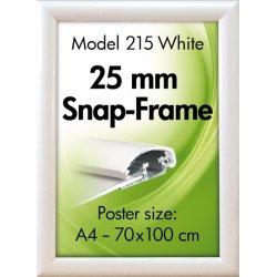 Alu Plakatramme, Snap-frame, 50 x 70 cm, Hvid