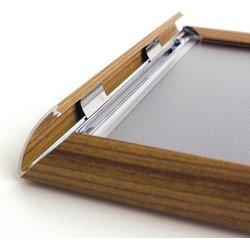 Alu Plakatramme, Snap-frame, 50 x 70 cm, Brun