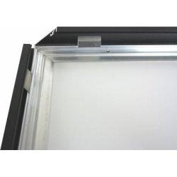 Alu Struktur Plakatramme, Snap-frame,100x140, Sort