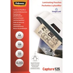 Fellowes Capture 125 mic A4 lamineringslomme gloss