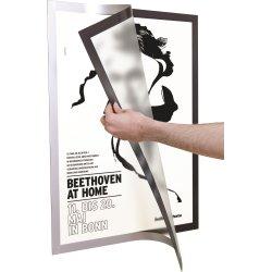 Durable Poster Magnetramme 70 x 100 cm, sølv