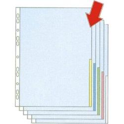 Esselte signallomme A4, PP, top+højre, 100stk, gul