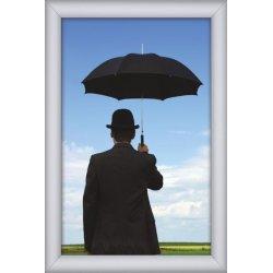 Alu vandtæt plakatramme, Snap-frame, A2, Sølv