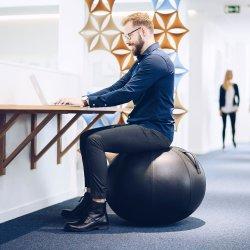 JobOut Balancebold Design, Kunstlæder, Sort