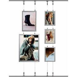 Alu Hængende Plakatramme, Snap-frame, 50x70, Sølv