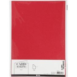 Happy Moments Papir, A4, 70g, 20 ark, rød